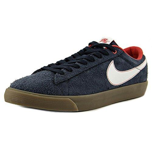 Nike Blazer Low GT Mens Skateboarding-Shoes 704939-402_7.5 - Obsidian/University Red/Gum Light Brown/White