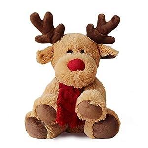 Gemini_mall Lovely Christmas Reindeer Bear Animal Soft Plush Stuffed Doll Kids Toy for Baby Boys Girls Christmas…