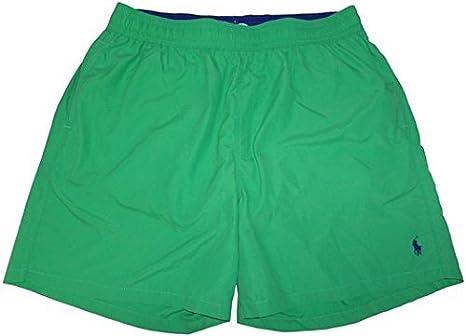 13ecd44f6b Polo by Ralph Lauren Men's Swim Trunks Bathing Suit Lime Green with Blue  Pony