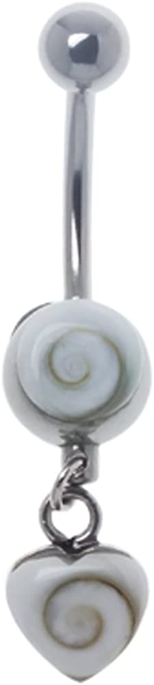 Banane Chic-Net Pendentif Coeur Piercing boule argent 925 sterling Shiva nombril des yeux