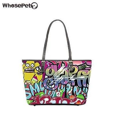 a53e622e05 Image Unavailable. Image not available for. Color  WHOSEPET Graffiti Handbag  ...