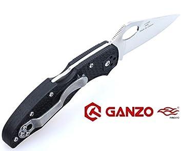 Ganzo Firebird – Agujero para el pulgar, antideslizante Handle Scales, Liner Lock, cuchillo de acero inoxidable Caza supervivencia cuchillo Hunting ...