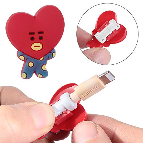 Data Line Cover Charging Cable Bite Kpop Bangtan Boys BT21 Cute Phone Charge Cable Conector Protector TATA Cooky Van (RJ) by maxgoods (Image #5)