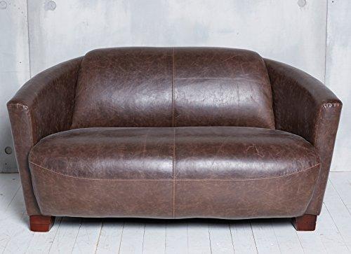 Ecopelle di alta qualit divano marrone poltrona club divano in pelle pu nuovo classico due - Divano in pelle o ecopelle ...
