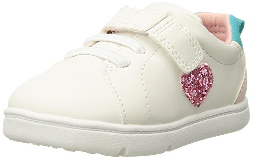 Carter's Every Step Park Baby Girl's and Boy's Casual Sneaker, White 100, 4 M US Toddler ()