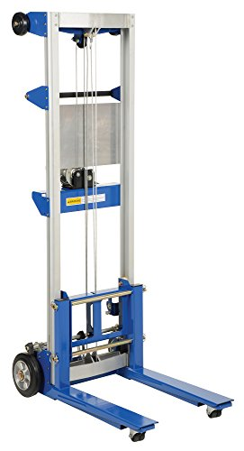 Vestil A-LIFT-R Fixed Straddle Hand Winch Lift Truck, 35