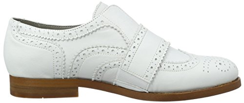 Hudson London Maddie Calf White, Zapatos de Cordones Brogue para Mujer Weiß (white)
