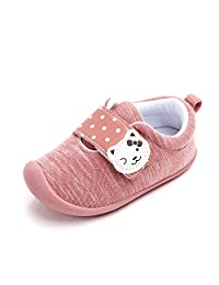 Baby Sneakers Cotton Breathable Rubber Sole Non-Slip First Walkers Shoes for Boys Girls