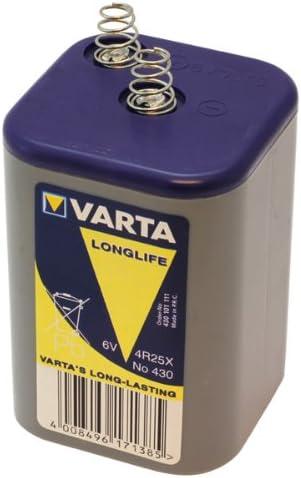 Blockbatterie Batterie Varta Longlife Plus Type 430 V430 4r25x 430 101 111 430101111 Spannung 6v Kapazität 7500 Mah Pda Punkt Elektronik