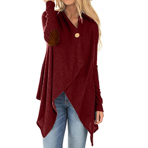 Clearance Autumn Cardigan Coat Jacket Irregular AfterSo Womens Gift (Vintage Sweatshirt Glamour)