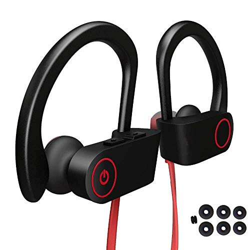 Bluetooth Headphones, BYZ Wireless Earphones Waterproof IPX7, Wireless Earbuds Bluetooth 4.1, Deep Bass HiFi Stereo, 8Hrs Playback, Noise Cancelling in-Ear Headset for Workout, Running, Gym