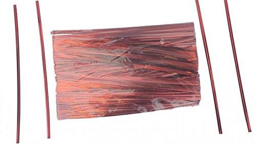 7'' Red Metallic Ties - 500 Per Bag (15 Bags) - 7-RM by Miller Supply Inc