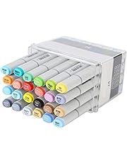 Copic Sketch Markers Art Markers Set, Double Head Art Marker Pen met beitel en fijne punten, Art Markers voor het markeren en onderstrepen van tekenkleuren (24 colors)