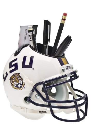 Schutt NCAA LSU Tigers Football Helmet Desk Caddy, White Alt. 2