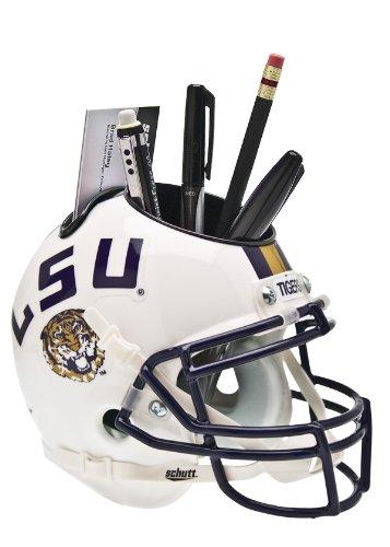 Schutt NCAA LSU Tigers Football Helmet Desk Caddy, White Alt. (Lsu Tigers White Helmet)
