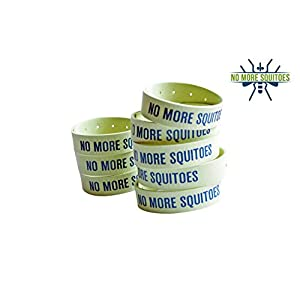 NO MORE SQUITOES Mosquito Repellent Microfiber Bracelet 20 units-4 X 5-Unit Resealable Bag 100% Natural Mosquito Repellent Deet Free Guaranteed to Work Repel All Insects Kid Safe Camping Fishing Hike