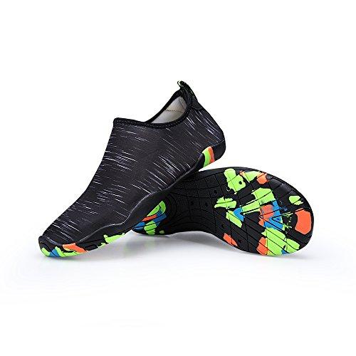 Lanbaosi Heren Dames Barefoot Aqua Sokken Sneldrogend Lichtgewicht Instapzwemschoenen Zwart