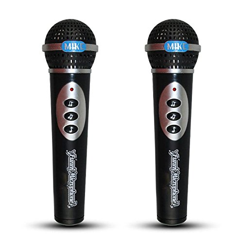 Forfar 2Pcs Magic Voice Microphone Mic Singing Kids Fun Tune Party Music Toy Gift for Kids -
