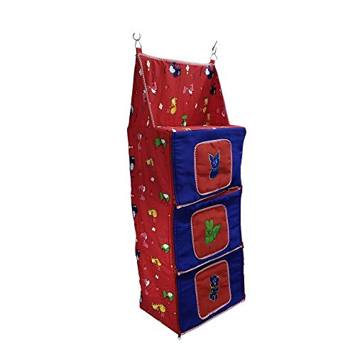 Love Baby DKBC09 Collapsible Cupboard Laundry Bag 3 Step   Red