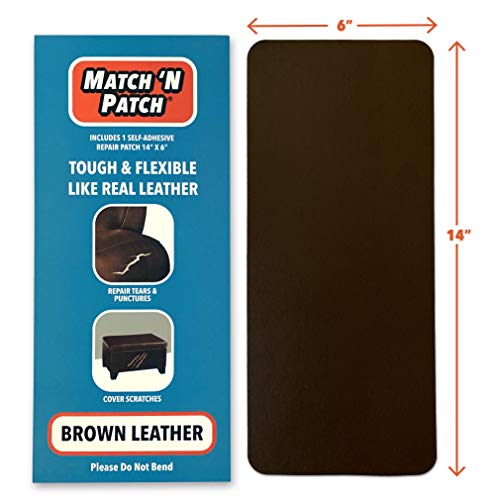 Match N Patch Realistic Brown Leather Repair Patch
