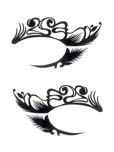 Loftus International Eyes Tattoo! Temporary Tattoos for Wild Eye Make-Up, Eyeshadow Alternative, Costume Accessory (#2-Ornate) Novelty Item ()