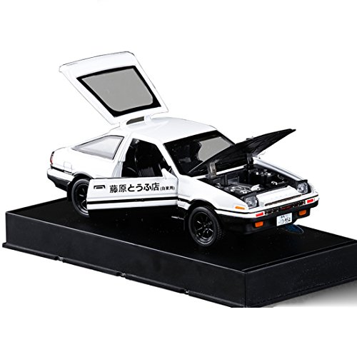KMT 1:28 INITIAL D Toyota AE86 Alloy Diecast Car Model (Black (Toyota Model)