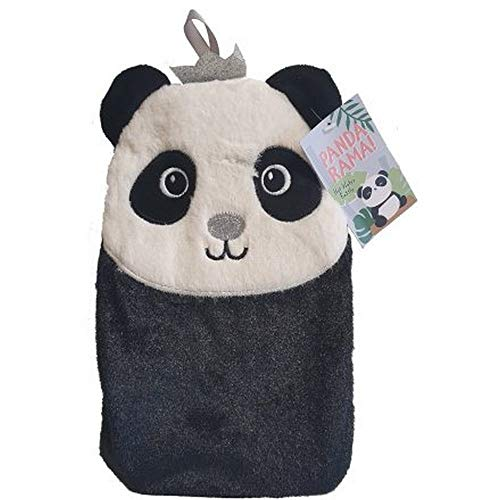Pandarama Hot Water Bottle With Cover (One Size) (Black/White)
