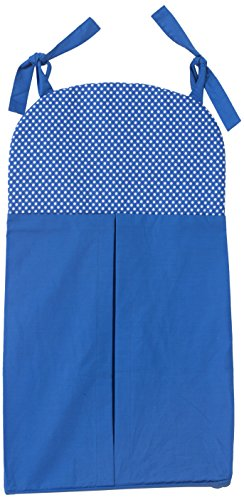 One Grace Place Simplicity Blue Diaper Stacker, Blue and White by One Grace Place