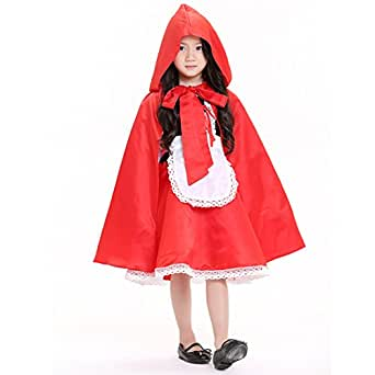 Halloween Children's Dress Dance Girl Fairy Tale Little Red Hat Princess