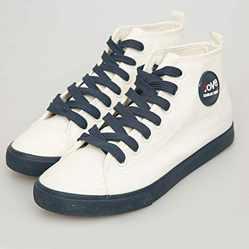 Comfort Skateboard Donna High Tela Espadrillas 1 Top Blu Ragazze Piattaforma Sneaker Traspirante Tenthree Casual Da Stringate Scarpe Ginnastica 1PwxqdP84A