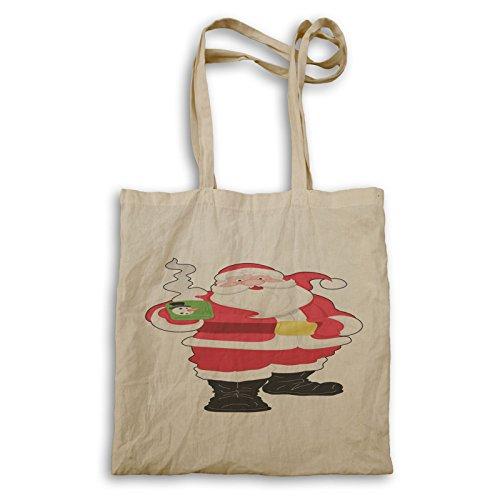 Santa Claus Happy Winter Carry Bag P459r
