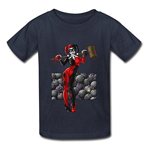 sanyou-kids-geek-harley-quinn-coloured-t-shirts-size-s-navy