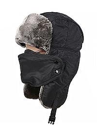 OBO Bands Unisex Winter Trooper Trapper Hat Hunting Hat Ear Flap Strap Windproof Mask