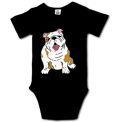 PA2PAFU English Bulldog Newborn Baby Short Sleeve Baby Rompers Onesies