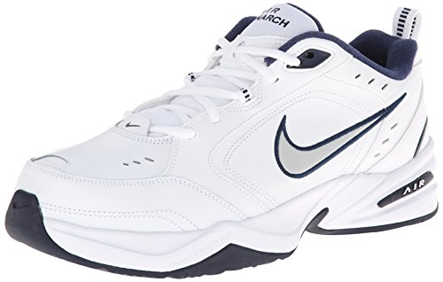 nike-mens-nike-air-monarch-iv-4e-running-shoes-10-white-metallic-silver-midnight-navy