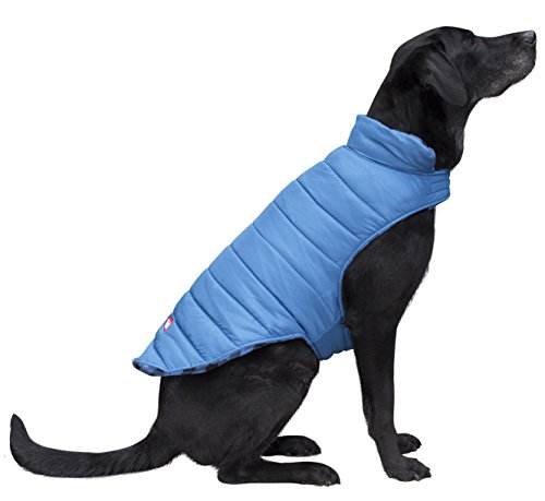 (Coleman Dog Reversible Fleece Jacket, Blue, Medium - 16\