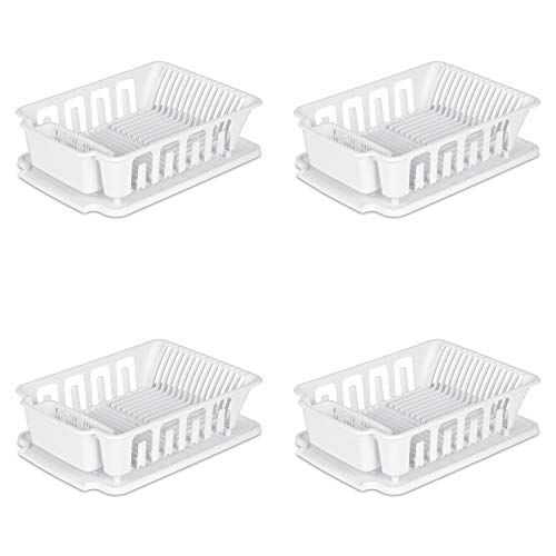 Sterilite, Large 2 Piece Sink Set, Case of 4