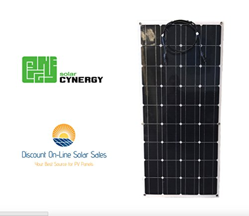 DOLSS 120watt 12volt Monocrystalline Flexible-Bendable Solar Panel by Solar Cynergy