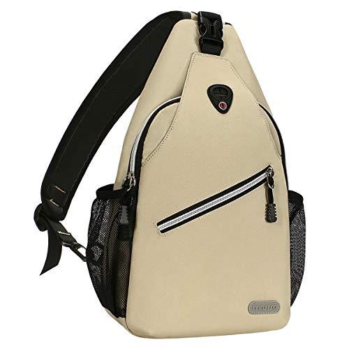 MOSISO Sling Backpack, Multipurpose Crossbody Shoulder Bag Travel Hiking Daypack, Beige ()