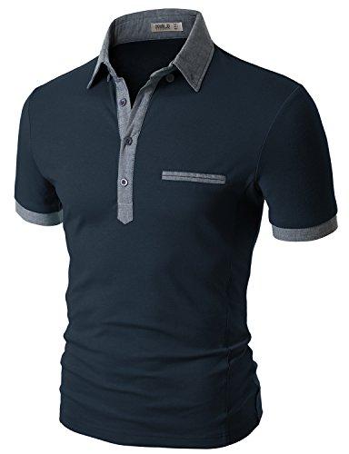 Doublju Mens Long Sleeve SickFits Impact NAVY T-shirts,M