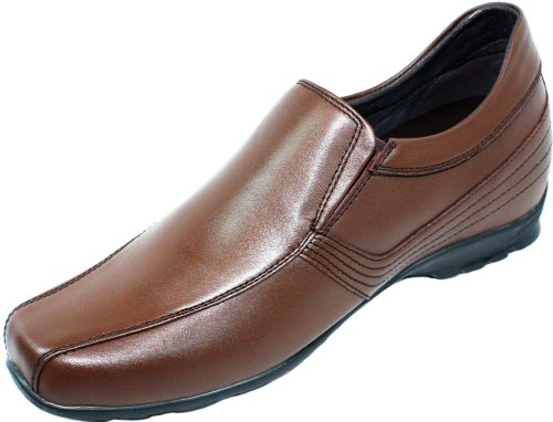 Calden–k561022–6,1cm Grande Taille–Hauteur Augmenter Ascenseur shoes-brown en cuir à enfiler