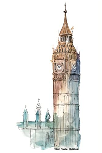 blank london sketchbook big ben tower of london watercolor design