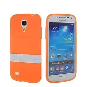 CASEPRADISE Carcasa de TPU Gel silicona Funda Caso Tapa Cover Case Para Samsung Galaxy S4 Mini I9190 Orange