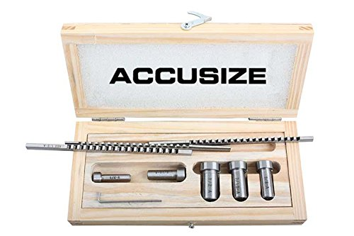 Accusize - No.00 HSS Keyway Broach Precision Sets In Fitted Wooden Box, 5100-0001 by Accusize Industrial Tools (Image #1)