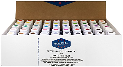 Food Coloring AmeriColor Nifty - Fifty Kit .75 Ounce Soft Gel Paste - 50 Pack by AmeriColor
