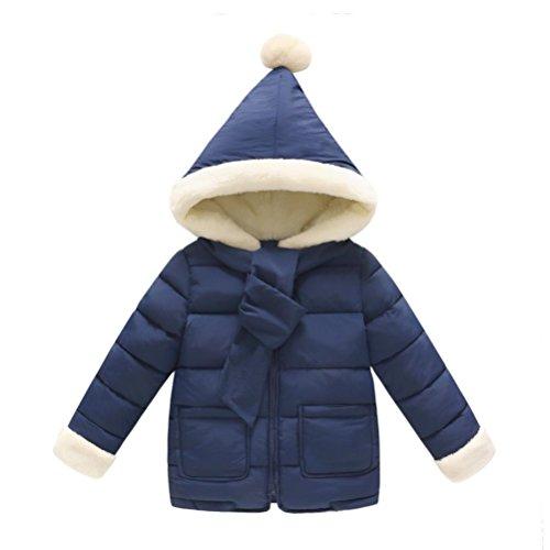 Nevera Baby Girls Boys Kids Down Jacket Coat Christmas Autumn Winter Warm Children Clothes Packable Hoodie Coats (24M, Navy)