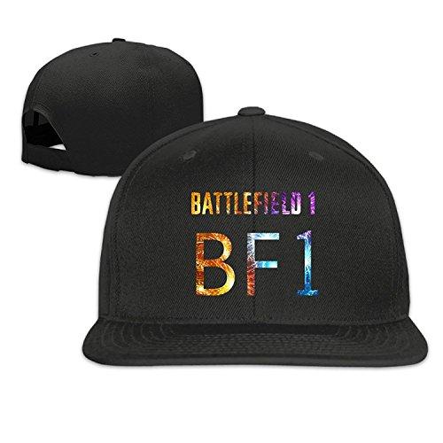 Price comparison product image Battlefield 1 Boy Girl Adjustable Flat Bill Hat Baseball Cap Black