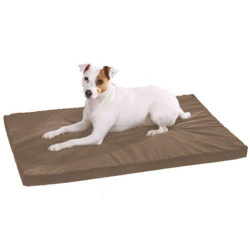 Slumber Pet 41-Inch Memory Foam Rectangular Dog Bed, Warm Sand