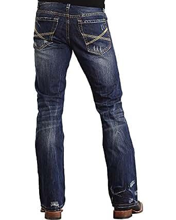 Stetson Mens Rocks Fit Collection Dark Wash Jean