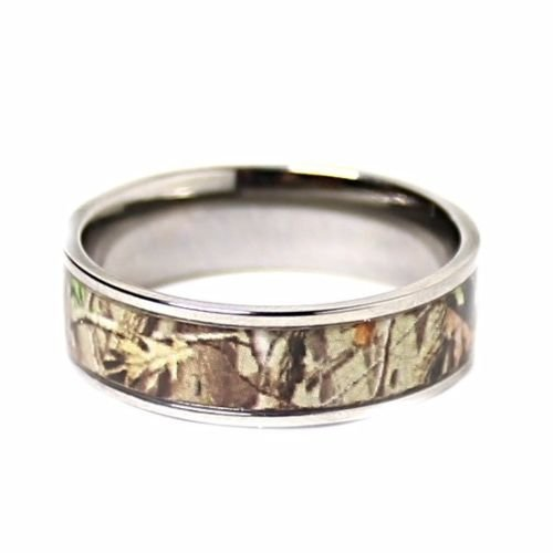 Amazoncom Mens Womens Camo Engagement Wedding Rings Set Silver